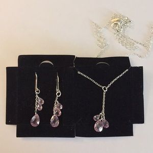 Jewelry - Breast cancer awareness necklace & earrings